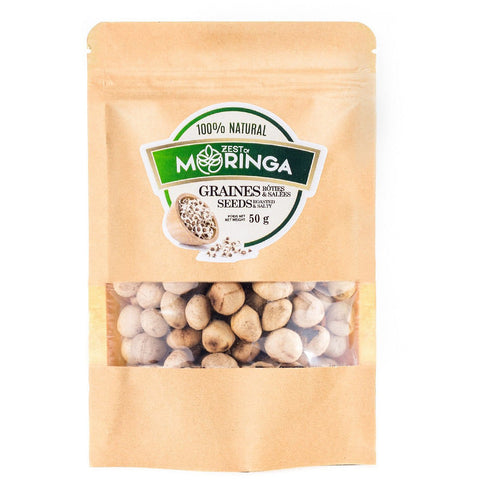 Roasted & Salty Moringa Oleifera Seeds, Healthy Snack With Fiber, Amino Acids & Natural Sugar 50g