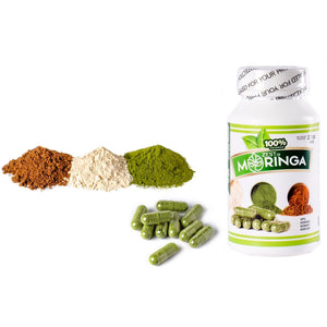 Moringa Oleifera Capsules-Powerful Nutritional Supplements Mixture of Roots, Seeds, And Leaf Powders Vitamins A,B,C and D - Zest Of Moringa