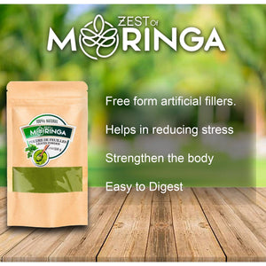 100% Natural Moringa Leaf Powder - Superfood Powder for Strengthen Immune System-150g - Zest Of Moringa