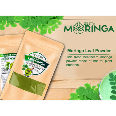 100% Natural Moringa Leaf Powder - Superfood Powder for Strengthen Immune System - Gluten-free Moringa Powder Which is Perfect Dietary Supplement for Boosting Memory- Rich in Vitamins, Calcium, Protein & Potassium Helps in Better Mood and Energy-150g