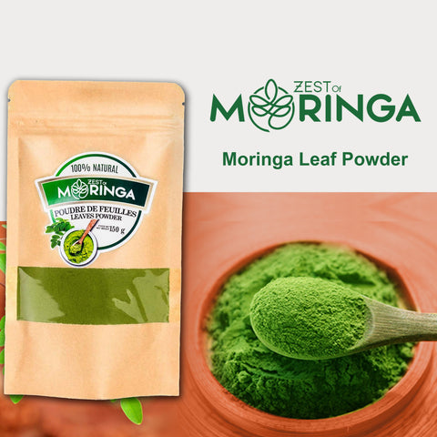 100% Natural Moringa Leaf Powder - Superfood Powder for Strengthen Immune System-150g