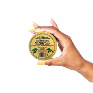 Moringa Hair Pomade Blend Cacao Oil, Castor Oil, and Beeswax for Damaged Hair & Scalp - Zest Of Moringa