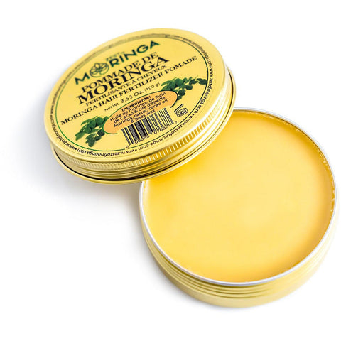 Moringa Hair Pomade Blend Cacao Oil, Castor Oil, and Beeswax for Damaged Hair & Scalp