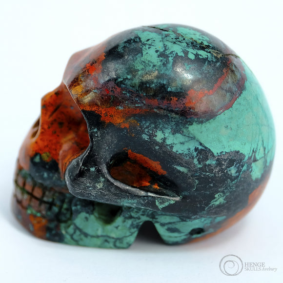 Sonora skull - green & orange
