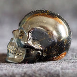 Blue Tiger Eye Skull