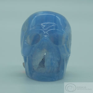 Blue Lace Agate Skull