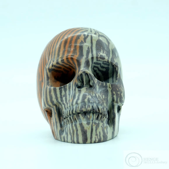 Chinese Paintstone Skull