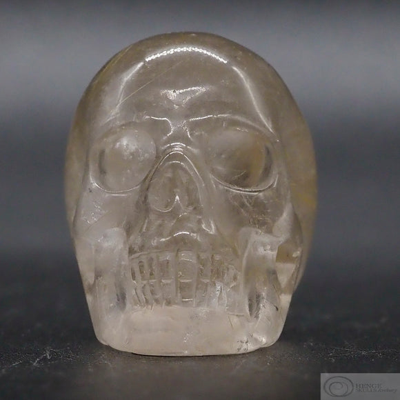 Rutilated Citrine Human Skull