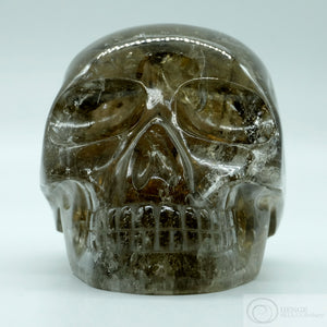 Rutilated Smoky Quartz Skull