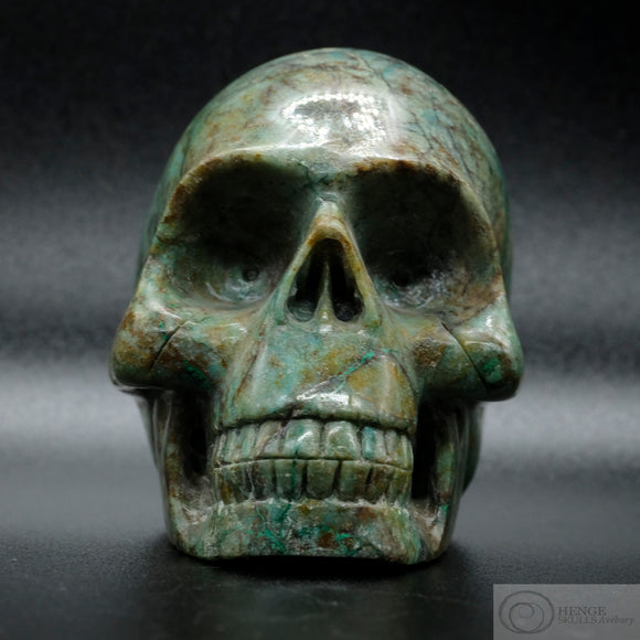 Silicated Chrysocolla Skull