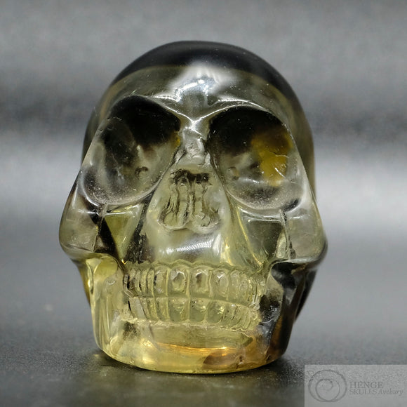 Smoky Citrine Skull