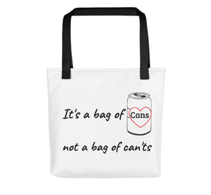 A bag of Cans - Heart Tote Bag