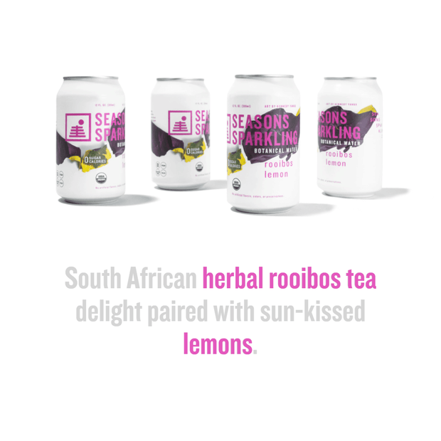 Rooibos Lemon flavor highlights: South African herbal rooibos tea delight paired with sun-kissed lemons