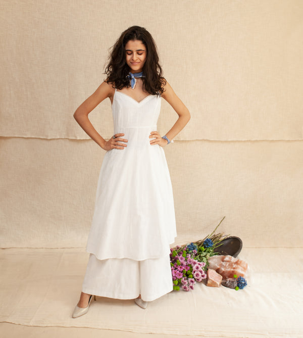 White Viola Dress & Pants