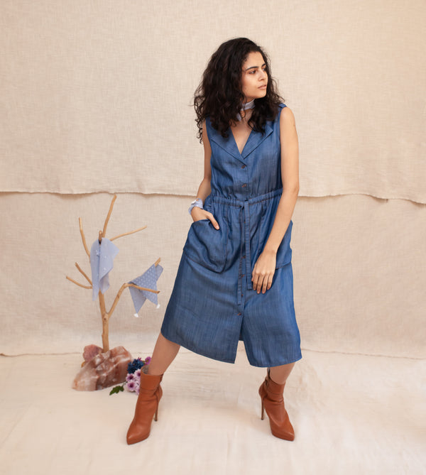 Indigo Freya Trench Dress