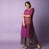 Slim Fit Tunic with Inner - Purple