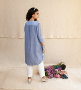 Blue Frost & White Joanna Tunic and Pants