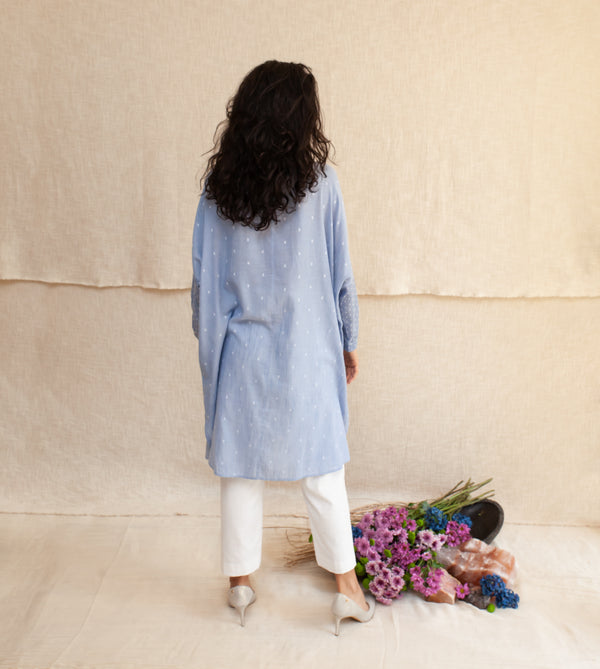 Blue Frost & White Natalia Dress and Pants