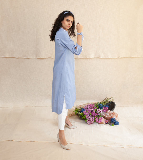 Blue Frost & White Kristina Tunic and Pants