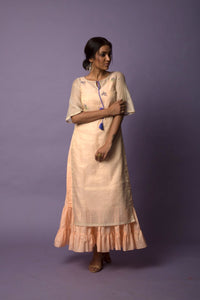 Dull Gold Tunic with long frill Dress