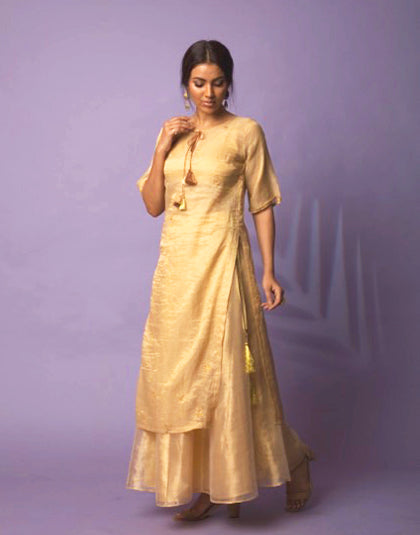 Azin Golden Tunic and Skirt