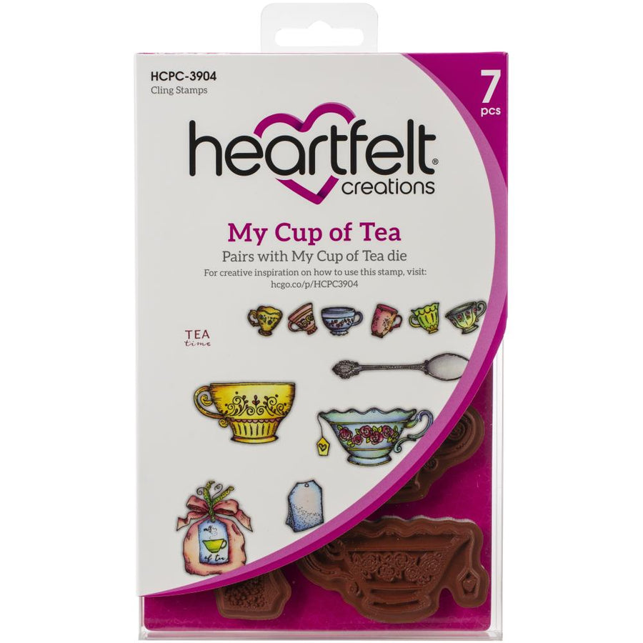 Heartfelt Creations - My Cup of Tea Cling Stamp Set - HCPC-3904