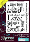 Sheena Douglass A6 Rubber Stamp - Laugh and Love