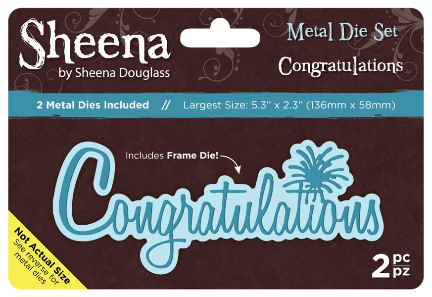 Sheena Douglass Metal Die Set - Congratulations