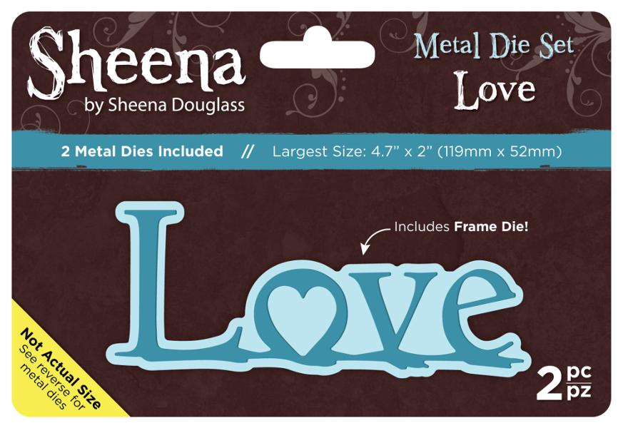 Sheena Douglass Metal Die Set - Love