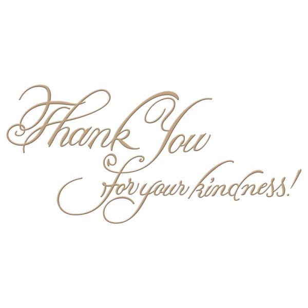 Spellbinders Glimmer Hot Foil Plate - Copperplate Script Kindness by Paul Antonio (GLP-026)