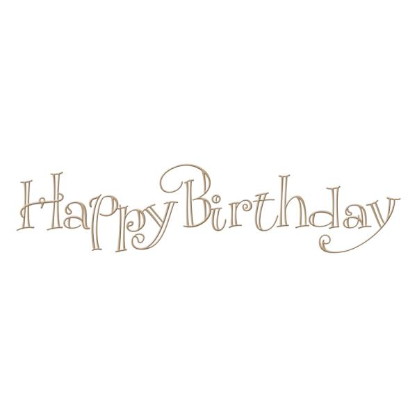 Spellbinders Glimmer Hot Foil Plate - Faux Script Happy Birthday by Paul Antonio (GLP-012)
