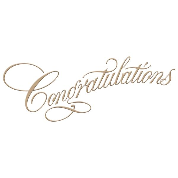 Spellbinders Script Glimmer Hot Foil Plate - Copperplate Script Congratulations by Paul Antonio (GLP-015)