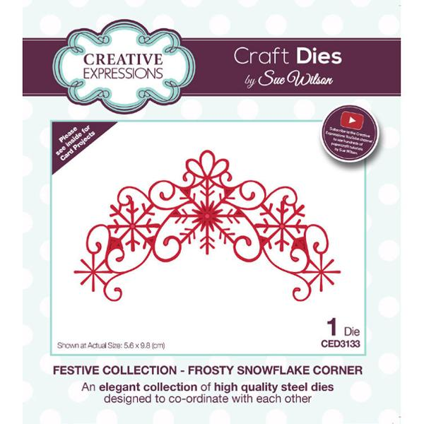 Sue Wilson Dies - Festive Collection Frosty Snowflake Corner - CED3133