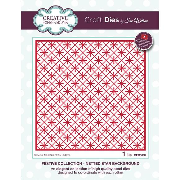 Sue Wilson Dies - Festive Collection Netted Star Background - CED3137