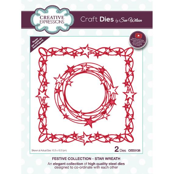 Sue Wilson Dies - Festive Collection Star Wreath - CED3138