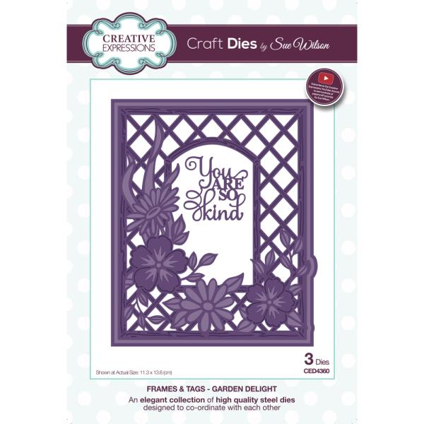 Sue Wilson Dies - Frames and Tags Collection Garden Delight - CED4360