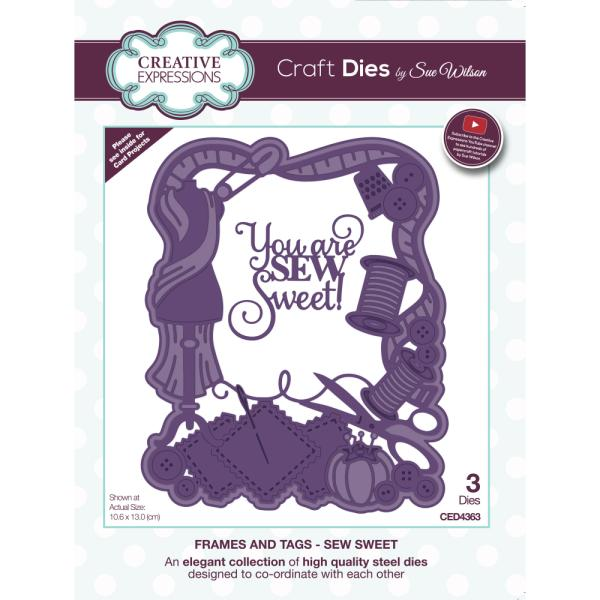 Sue Wilson Dies - Frames and Tags Collection Sew Sweet - CED4363