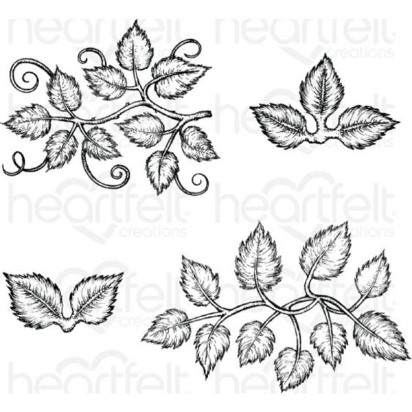 Heartfelt Creations Stamp: Leafy Accents (HCPC-3835)