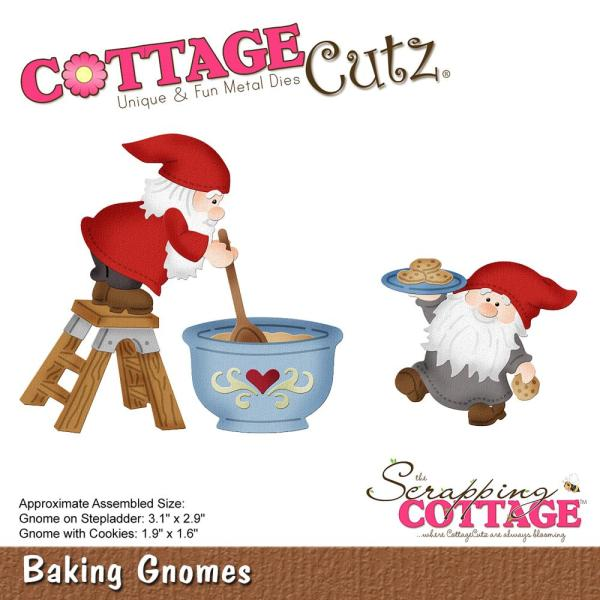 Cottage Cutz Die: Baking Gnomes - CC-483