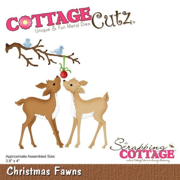 Cottage Cutz Die: Christmas Fawns - CC-486
