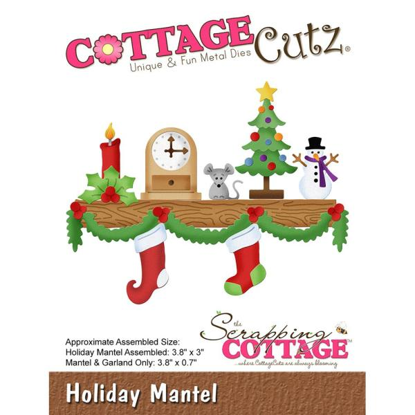 Cottage Cutz Die: Holiday Mantel - CC-495