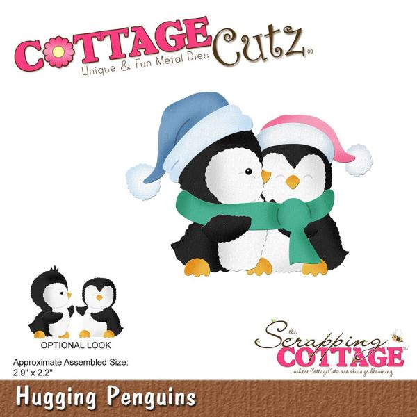 Cottage Cutz Die: Hugging Penguins - CC-498