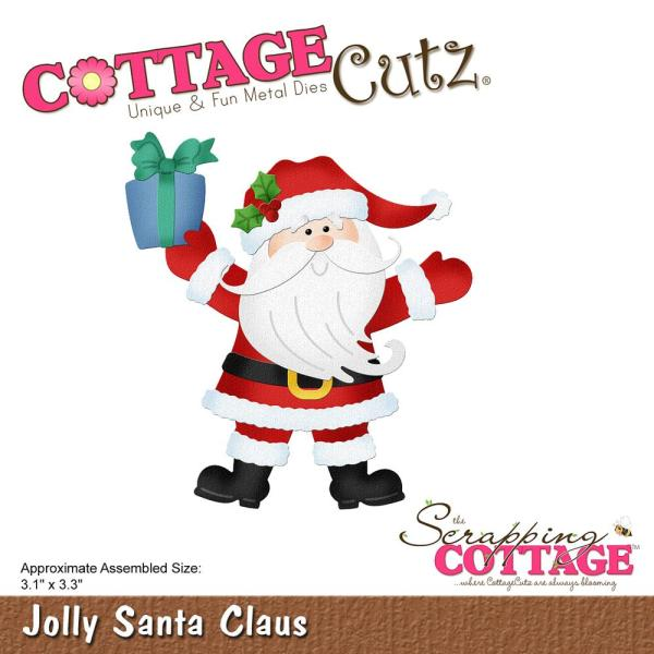 Cottage Cutz Die: Jolly Santa Claus - CC-499