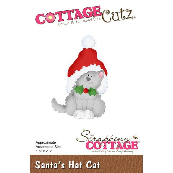 Cottage Cutz Die: Santa Hat Cat - CC-508