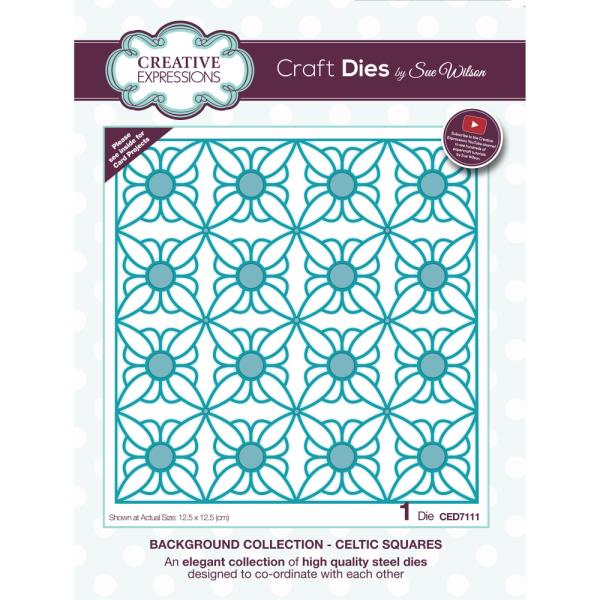 Sue Wilson Dies - Background Collection Celtic Squares - CED7111