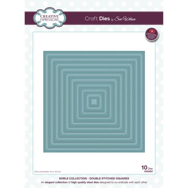 Sue Wilson Dies - Noble Collection Double Stitched Squares - CED5527
