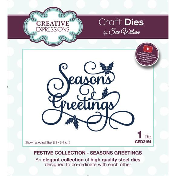 Sue Wilson Dies - Festive Collection Seasons Greetings - CED3154