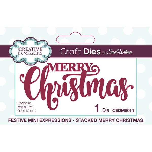 Sue Wilson Dies - Festive Collection Stacked Merry Christmas - CEDME014