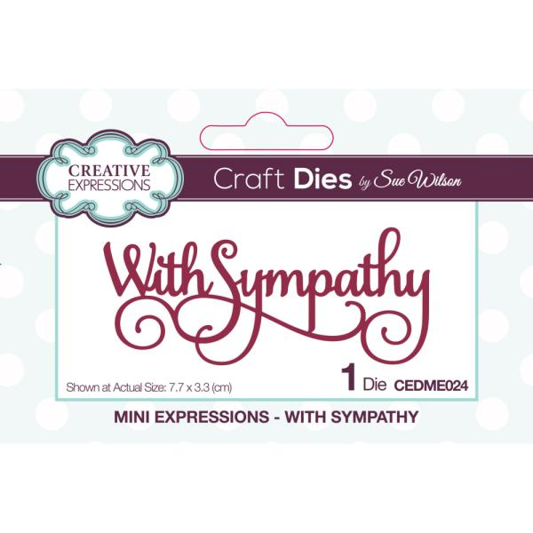 Sue Wilson Dies - Mini Expressions With Sympathy - CEDME024