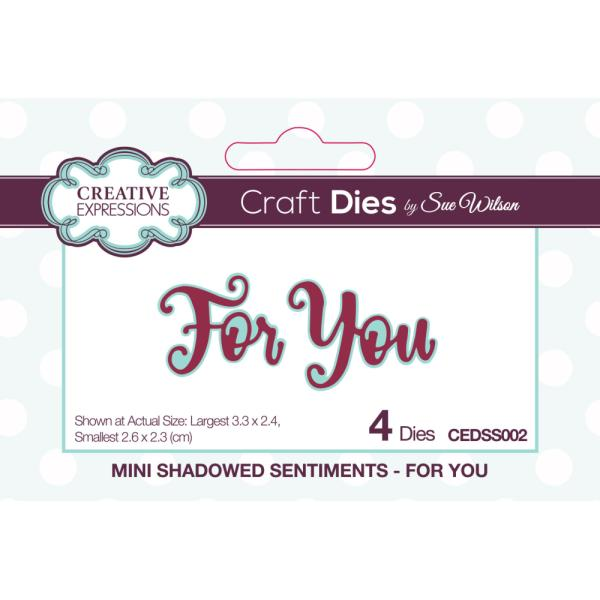 Sue Wilson Dies - Mini Shadowed Sentiments For You - CEDSS002